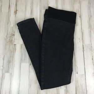 Top Shop Womens Pants 12L 32 Black Moto Skinny